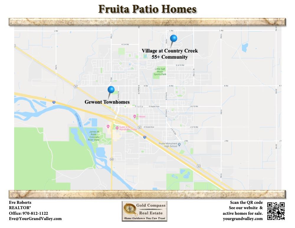 Fruita Colorado Patio Homes, Townhomes, and 55+ Communities